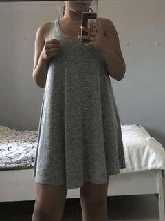 American Eagle Grey Flowy Dress
