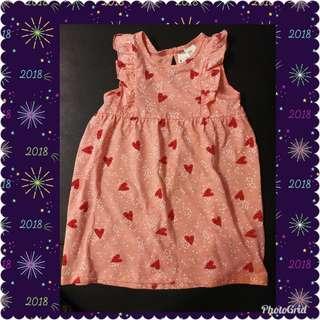 H & M 深粉紅花裙, 碼數85
