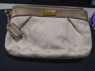 Vintage GOLD C COACH clutch bag