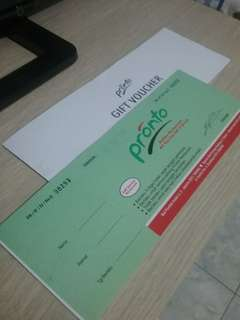 Pronto Voucher all you can eat