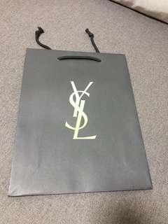 Ysl紙袋 中size 名牌紙袋