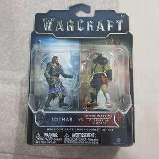 Legit Brand New Sealed Jakks Pacific Warcraft Lothar Horde Warrior Mini Toy Figure