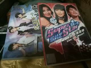S.H.E cocert DVD for both