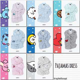 BTS BT21 x HUNT INNERWEAR PAJAMA DRESS