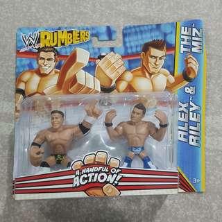 "Legit Brand New Sealed Mattel WWE Rumblers Alex Riley The Miz 2"" Toy Figure"