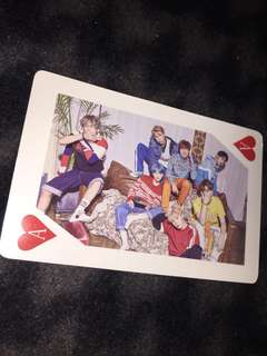 bts all members card ( two sided )
