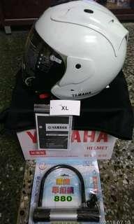 🚚 Yamaha安全帽送機車大鎖原廠3/4加強型