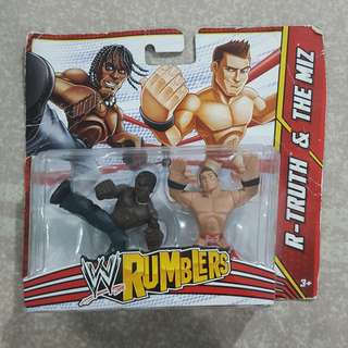 "Legit Brand New Sealed Mattel WWE Rumblers R-Truth The Miz 2"" Toy Figure"