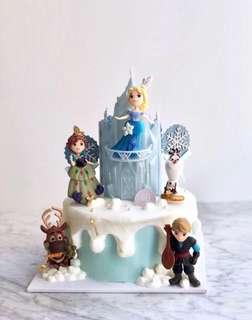 Elsa公主蛋糕