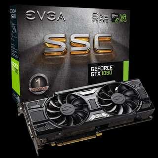 EVGA GTX 1060 6GB SSC GAMING GPU (White LED)