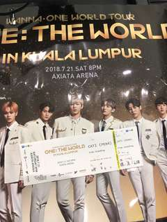 One: The World ticket for sale