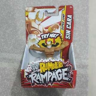 "Legit Brand New With Box Mattel WWE Rumblers Rampage Sin Cara 2"" Toy Figure"