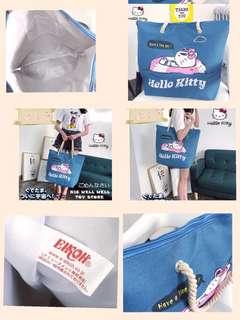 日式新款Hello Kitty 單肩包有拉鍊沙灘包大容量