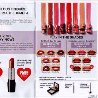 Gel lipstick Matte and luminous