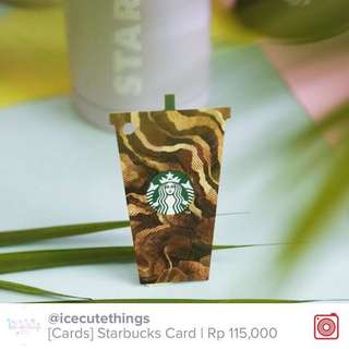Starbucks Card Gold Ice Frappucino Cup Indonesia