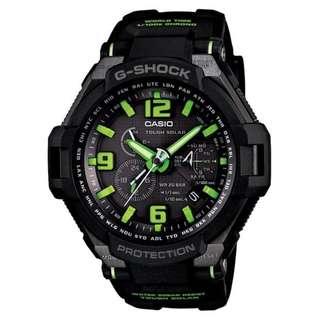 CASIO G-SHOCK GRAVITY DEFIER G-1400 series G-1400-1A3 黑綠 TOUGH SOLAR 光動能 GSHOCK G1400