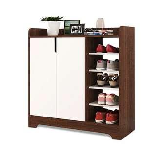 Stylish Shoe Cabinet (Dark Brown)
