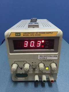 GW GPS-3030D Laboratory DC Power Supply, 0-30V, 0-3A