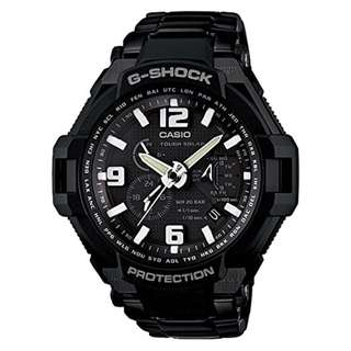 CASIO G-SHOCK GRAVITY DEFIER G-1400 series G-1400D-1A 黑色 TOUGH SOLAR 光動能 GSHOCK G1400D