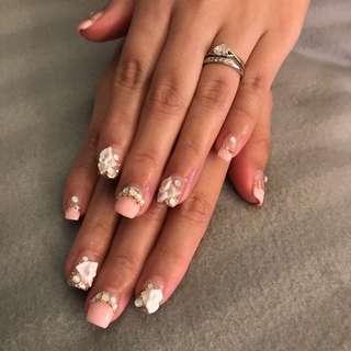 Bridal nails @$45