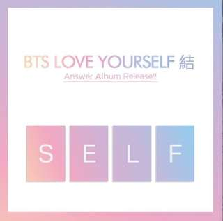 BTS Repackage Album: LOVE YOURSELF 結 'Answer'