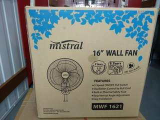 Mistral Wall Fan, LED Light Tube with Reflector and Twin Head Socket