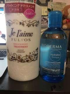 shampoo + face toner