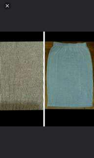 🚚 BNWT Factorie Pinstripe Ribbed Midi bodycon Skirt