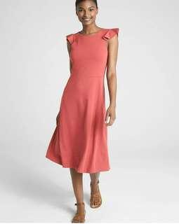GAP Ponte Pink Flutter Dress