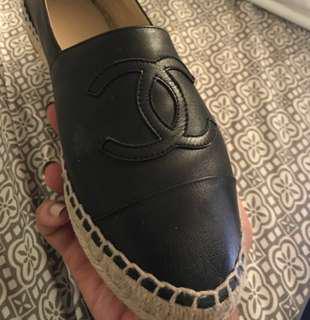 Authentic Chanel lambskin Espadrilles- RARE