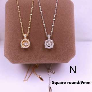 tifany inspired dancing diamond necklace