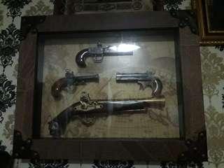 Collection of Replica Guns Frame