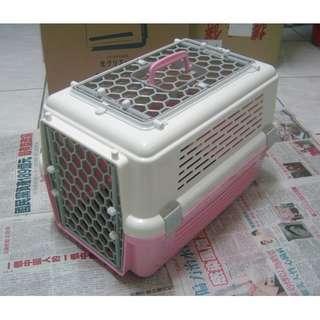 acepet-愛思沛寵愛籠 寵物外出提籠 天窗型雙門運輸籠 粉白色~