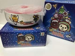 🚚 7-11 POEN醬&菇菇聖誕節保鮮碗