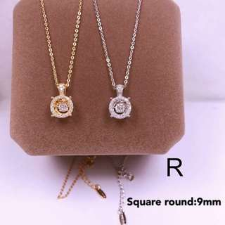tifany inspired diamond necklace