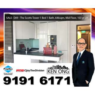 D09 – The Scotts Tower, 1 Bedrm Unit for SALE!!
