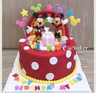 立體蛋糕 3Dcake 百日宴蛋糕 生日蛋糕 米奇老鼠蛋糕 米妮蛋糕 米奇蛋糕 tsumtsum蛋糕 minnie蛋糕