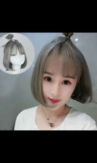 Preorder korean short hair bobo wig * waiting time 15 days after payment is made * chat to buy to order