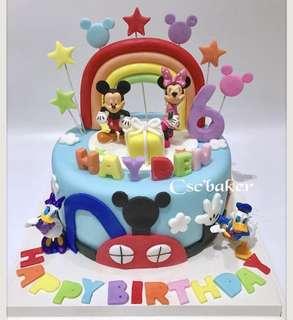 立體蛋糕 3Dcake 生日蛋糕 米奇老鼠蛋糕 米妮蛋糕 米奇蛋糕 百日宴蛋糕