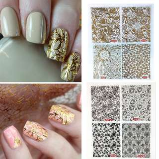 3D Intricate Flower Nail Decals