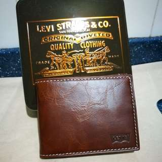 Levi's Leather Wallet Money Clip