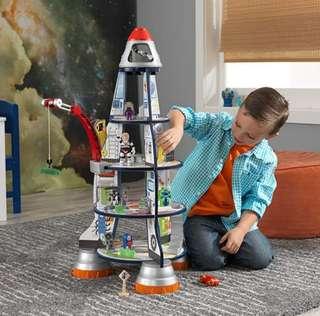 (PO) BN KidKraft Rocket Space Ship Astronaut Toy Play Pretend Set