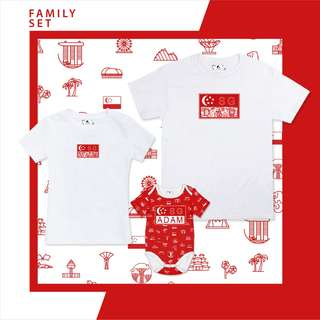 We are Singapore Matching Family Set (Baby Romper)
