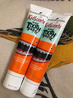 Young Living kidscent toothpaste