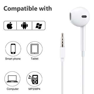 Authentic Apple EarPods 3.5mm Strong Bass Headphone jack earphone earpiece For apple beats apple earpiece