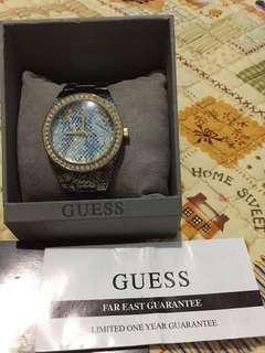 Jam tangan guess phyton blue