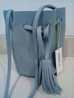 Bucket Bag Blue Miniso