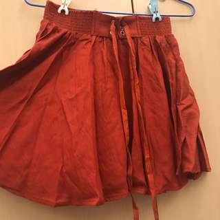 磚橘色褲裙