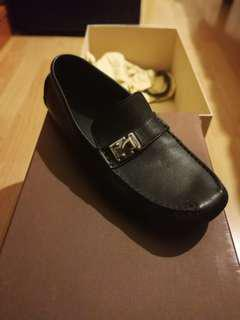 Louis Vuitton Shoes Monte Carlo Moccasins Loafers in Black Leather