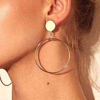 🌻Circular Statement Earrings Gold/Silver🌻